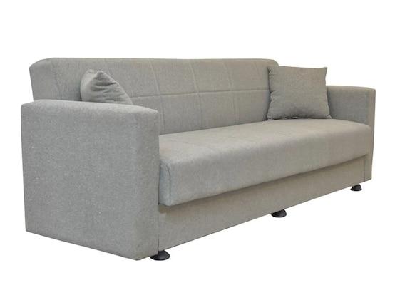 Καναπές Κρεβάτι Τριθέσιος Amethyst Ανοιχτό Γκρι 214x78x78cm