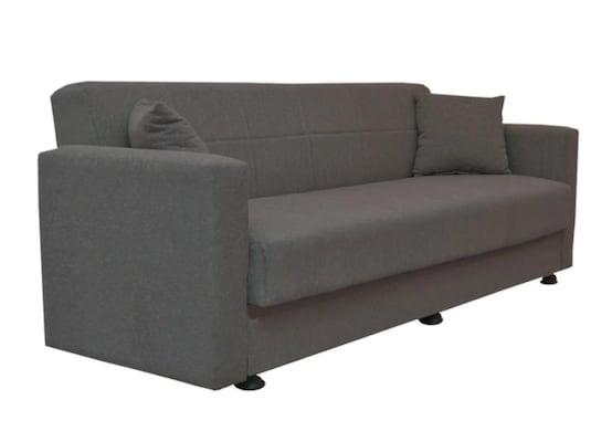 Καναπές Κρεβάτι Τριθέσιος Amethyst Σκούρο Γκρι 214x78x78cm