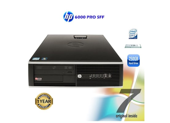 Desktop Refurbished Hp Compaq 6000 Pro (intel Core2duo E7500/4gb/250gb/hd Graphics)